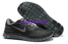 17O63J Mens Nike Free 4.0 V2 Black Cool Grey Shoes