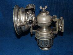Belle et rare lampe ancienne à carbure pour vélocipède / PHANOMEN HERM.RIEMANN