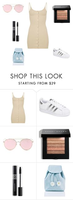 """""""Simple."""" by tiannia-barnes ❤ liked on Polyvore featuring adidas, LMNT, Bobbi Brown Cosmetics, Christian Dior and Sugarbaby"""