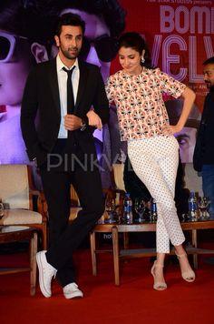Ranbir, KJo and Anushka launch the second trailer of Bombay Velvet.