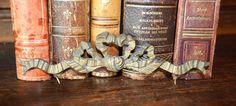 Antique French Bronze Ormolu Bow Hardware Trim by VintageFleaFinds, $34.00