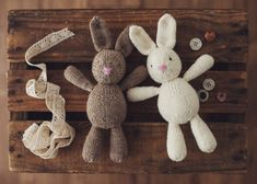 PATTERN mini Briar Bunny adorable knitting pattern