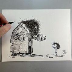 """12 mil Me gusta, 72 comentarios - skottie young (@skottieyoung) en Instagram: """"Hagrid! #dailysketch #harrypotter"""""""