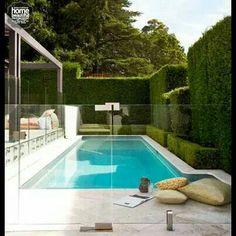 Todd Mckenney's pool - Home Beautiful Magazine Australia. #garden #hedges