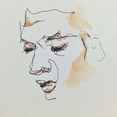 watercolor / line / fineliner