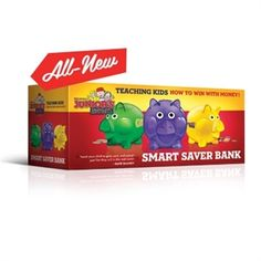 Junior's Smart Saver Bank Start teaching your children about money NOW! A very important skill they will need for the rest of their lives. https://www.yellowhousebookrental.com/c/51/finances-and-budgeting