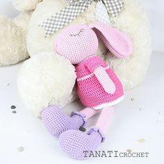 Bunny with which it is easy and warm to fall asleep.   #amigurumi #crochet #crocheted #crocheting #crochetlove #crochetaddict #crochetersofinstagram #toy #toys #handmade #handmadebyme #handmadewithlove #yarn #амигуруми #вязание #cute #adorable #örgü #ganchillo #virka #crochetdoll #amigurumipattern #etsy #etsyAU #freecrochetpattern #amiguru_mi #weamiguru #crochetbunny #tanaticrochet