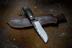 Ebony Belt Knife with Copper