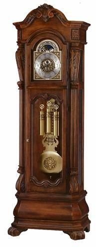 Howard Miller Hamlin Floor Clock. h1Howard Miller Hamlin Floor Clock_h1The Howard Miller Hamlin Floor Clockis an heirloom-style floor clock with a distressed finish, designed by Chris Bergelin. A carved shell and leaf design draws the eye to the arched pe.. . See More Floor Clocks at http://www.ourgreatshop.com/Floor-Clocks-C1127.aspx