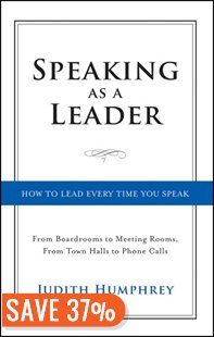 Make every communication count-with a simple, four-step speaking model.  Whether it's among colleagues at lunch or an audience of a thousand, a leader's role is to move and inspire others.