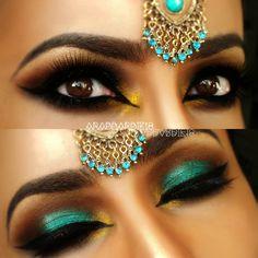 Teal Arabic Makeup