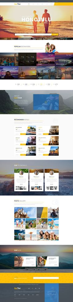 Buy SunTour - Creative Travel Agency PSD Template by CreativeWS on ThemeForest. SunTour – Creative Travel Agency PSD Template suitable for a wide variety of businesses. Its fresh and clean design o. Travel Agency Website, Travel Website Design, Travel Design, Tourism Website, Website Layout, Web Layout, Layout Design, Website Ideas, App Design