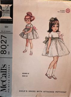 1965 McCall's sewing pattern #8027 in girls' #supplies @EtsyMktgTool #vintagepattern #vintagemccall's #mccall's8027 #1965pattern #60spattern