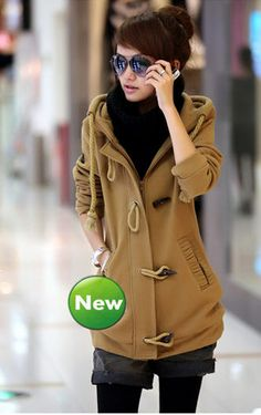Seductive Women's Simple Design Thicken Hooded Long Trench Coats - stylishplus.com