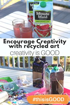 Try making this bird feeder with a Minute Maid juice carton. Crafting together will always be messy, but even more fun. This is creativity. #thisisGOOD