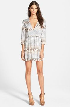 4SI3NNA V-Neck Swing Dress available at #Nordstrom