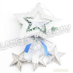 New Wholesale Christmas Tree Decoration 3pcs/lot Dangle Santa Claus Plastic Silver with Stars Fit Christmas Gifts  260090-in Christmas Decoration Supplies from Home  Garden on Aliexpress.com $5.34