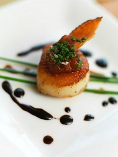 Scallop with tomato jam single by Devour Catering Calgary, via Flickr