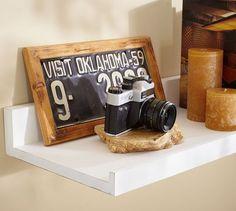 Should've saved those old cameras.   Holman Shelf - Unfinished   Pottery Barn