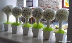 топиарий ромашковая свадьба