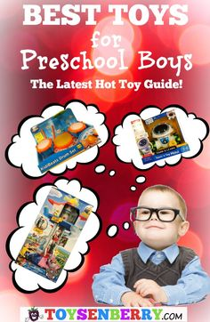 Best toys for preschool boys - Guide to the hot toys right now for 3, 4 and 5 year old boys.
