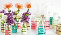 DIY: bloemenvaasjes in een handomdraai