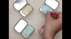 EASY diy water-soluble paper soaps in mint tins- TSA friendly??
