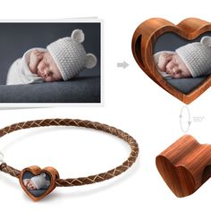 Personalized wooden heart fits pandora charm with your own design