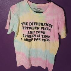 Tie dye t shirt Very good condition. Firm price because it was pretty expensive and still pretty new Jac Vanek Tops Tees - Short Sleeve