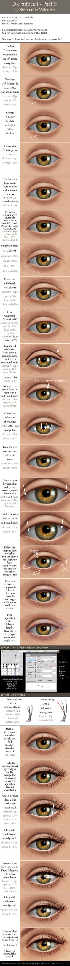 How to draw realistic EYE - Part 3/3 by StephanieVALENTIN.deviantart.com on @deviantART