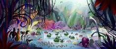 Cloudy With a Chance of Meatballs 2 Concept Art by Pete Oswald