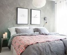 New Bedroom Colors White Furniture Gray Walls Ideas Gray Bedroom Walls, Bedroom Colors, Grey Walls, Home Decor Bedroom, Design Bedroom, Bedroom Ideas, Wall Design, Master Bedroom, Trendy Bedroom
