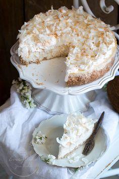Every Cake You Bake: Sernik kokosowy Coconut Cheesecake, Vegan Ramen, Ramen Noodles, Food Cakes, Cheesecakes, Cake Recipes, Sweets, Dishes, Baking