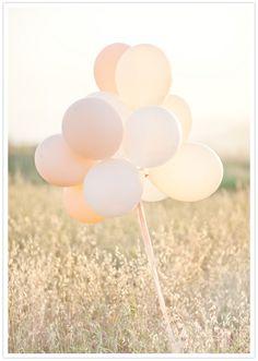 peach hue balloons
