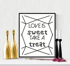 Sweet Treat Wedding Sign Printable Diamond Cut | https://www.vivabop.co.uk/products/sweet-treat-wedding-sign-printable-diamond-cut