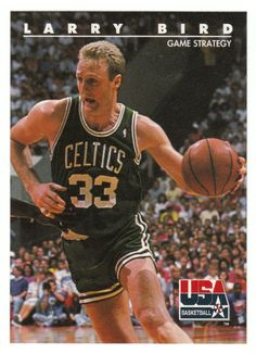 Larry Bird # 12 - 1992 Skybox USA Team Basketball
