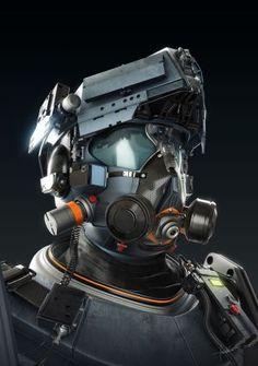 tactical futuristic helmet concept