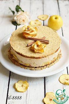 Apple caramel mousse cake