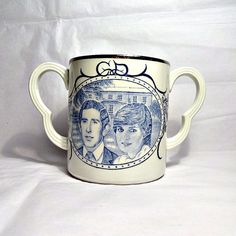 Royal Wedding, Adams Pottery Blue and White Loving Cup, The Prince of Wales…