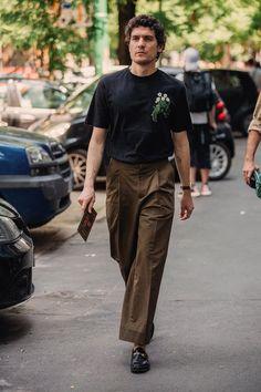 The best street style from Milan Fashion Week Men's Men Street Look, Look Street Style, Street Style Women, Best Mens Fashion, Look Fashion, Fashion Week Hommes, Style Masculin, Mein Style, Lookbook