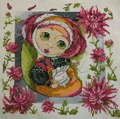 The embroidery hobby girl, counted printed on fabric DMC Cross Stitch kits,embroidery needlework Sets Home Decor Cross Stitch Love, Cross Stitch Kits, Cross Stitch Patterns, Christmas Cross, Cartoon Kids, Retro, Cross Stitching, Needlepoint, Printing On Fabric
