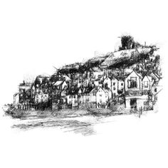 Sketch A Day, Fine Art Drawing, Art Drawings, Sketches, Scary Stories, Surface Design, Uk Shop, Paris Skyline, Giclee Print