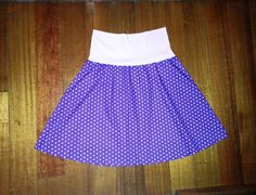 Purple plus size women's polka dot skirt
