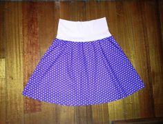 Purple plus size women's polka dot skirt