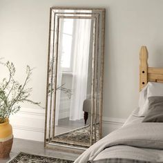 Cambria Full Length Mirror - Dining Room - Make-up Living Room Mirrors, Living Room Decor, Bedroom Mirrors, Bedroom Decor, Dining Room, White Vintage Mirror, Full Length Mirror In Bedroom, Full Length Mirror Hallway, Full Length Mirror Design