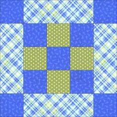 Framed Nine Patch Quilt Block Pattern
