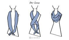 Tie scarves and shawls Curvy Fashion, Look Fashion, Fashion Beauty, Womens Fashion, Fashion Tips, How To Wear Scarves, Tie Scarves, Shawl Patterns, Designer Scarves