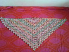 triangle scarf, coton yarn https://www.pinterest.com/pin/366621225888776548/