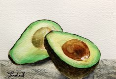 Avocado Watercolor