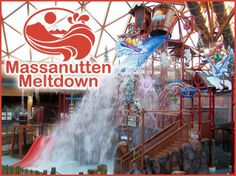 This central feature of the Indoor WaterPark has a bit of everything - from water cannons to water falls, and don't forget the giant tipping bucket! There is no way to stay dry on the Massanutten Meltdown! Take a ride on one of five slides before everything melts down!